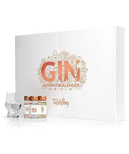 Tastillery Gin Adventskalender 2019 | inkl. exklusivem Verkostungsglas und Magazin mit Verkostungsanleitung & Cocktailrezepten