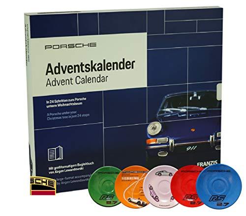 Porsche 911 Adventskalender 2019 - Für Sammler, inkl. Porsche Motiv Untertasse, 24 Boxen zum selber Bauen, Format: 1:43, Porsche Advent Kalender im Wert von 169 €, im Kastenformat - 34 x 29 x 4cm