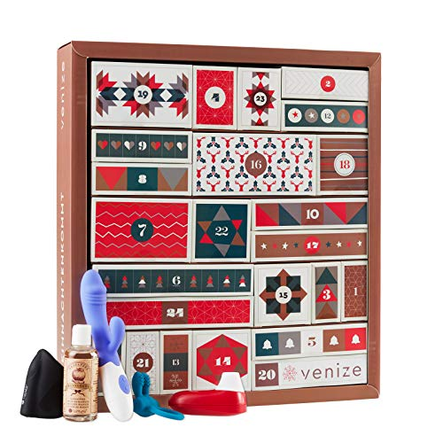 VENIZE Deluxe erotischer Adventskalender 2020 für Erwachsene, Warenwert über 650 Euro, hochwertiger Kalender für Paare, Frauen und Männer, 24 spannende Artikel, von Venize