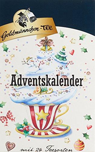 Adventskalender Stern mit  Goldmännchen-Tee, 1er Pack (1 x 50 g)