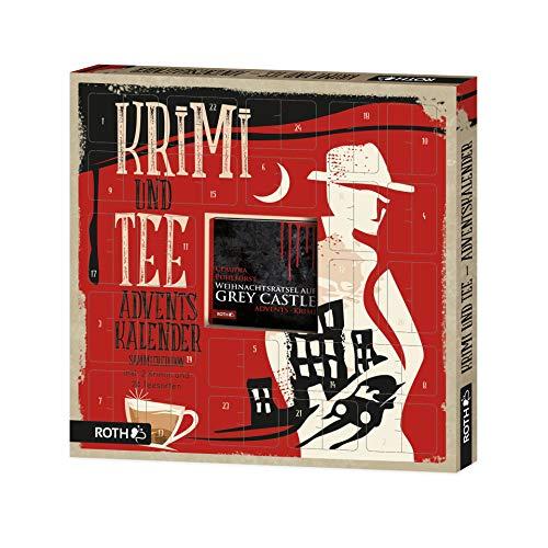 ROTH Krimi + Tee-Adventskalender 2020 gefüllt mit hochwertigen Teesorten und Krimi-Buch, Krimi & Teebeutel-Kalender für die Vorweihnachtszeit