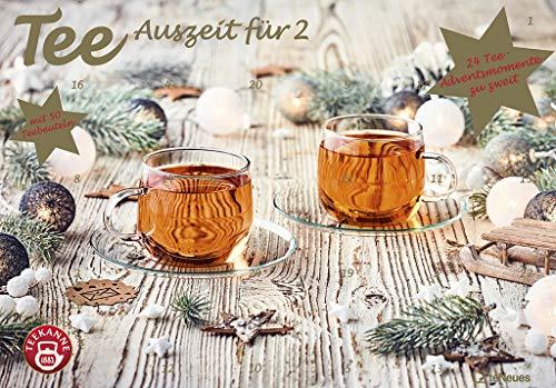 Tee-Adventskalender für Zwei 2021 - Teekalender - Adventskalender - Teesorten - Genusskalender - Advent-für-Zwei - 55,5 x 39 x 2 cm