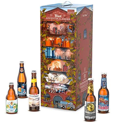 KALEA Bier Adventskalender 24 deutsche Biere von Privatbrauereien, Premium Biere, Perfektes Biergeschenk für Männer, mit Anleitung zur Verkostung