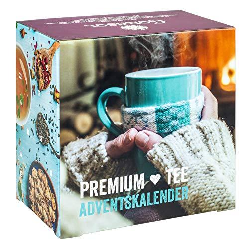 Premium Tee-Adventskalender 2020 XXL, 24 weihnachtliche Gourmet-Teesorten, 192 g loser Tee, Geschenk-Idee für Männer & Frauen