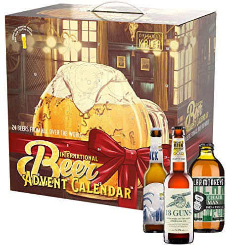 KALEA Bier Adventskalender International 2021, Biere der Welt aus 18 Ländern, Biergeschenk zur Vorweihnachtszeit