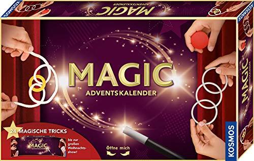 Kosmos MAGIC Zauber Adventskalender 2020, Spannende Zaubertricks, magische Zauber-Utensilien für die Adventszeit, Spielzeug-Adventskalender zum Zaubern für Kinder ab 8 Jahre, Zauberkasten, Weihnachten
