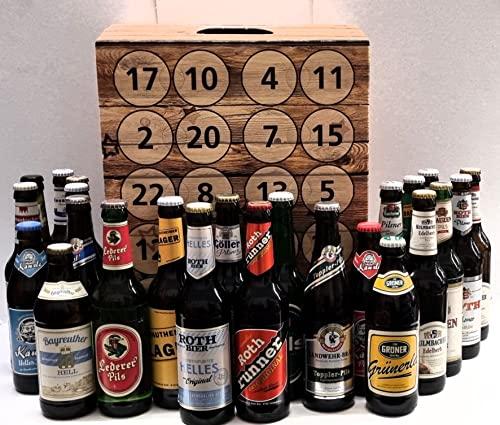 Adventskalender - Bier aus Franken I 24 verschiedene Bierspezialitäten aus Franken I Verschiedene Brausorten I Bierprobe I Geschenk Idee I Advent I Weihnachten