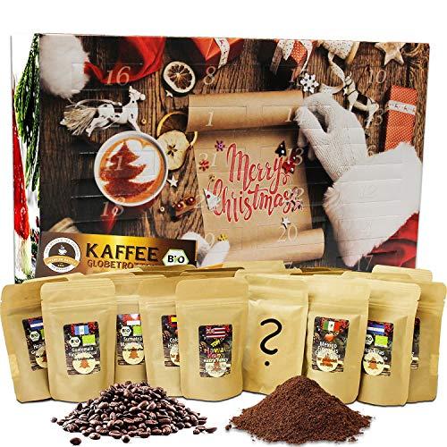 C&T Kaffee Adventskalender 2020 (Ganze Bohnen)   24 à 25g Bio Kaffees & fair gehandelte Raritäten + Überraschung im Kalender   Weihnachtskalender