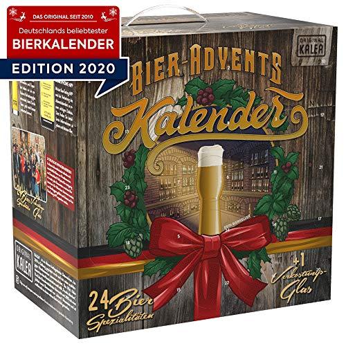 Kalea Bier-Adventskalender Edition Deutschland, neue Bestückung 2020, Deutsche Bier-Spezialitäten und 1 Verkostungsglas, 24 x 0.33 l Flaschen, Geschenkidee zur Vorweihnachtszeit