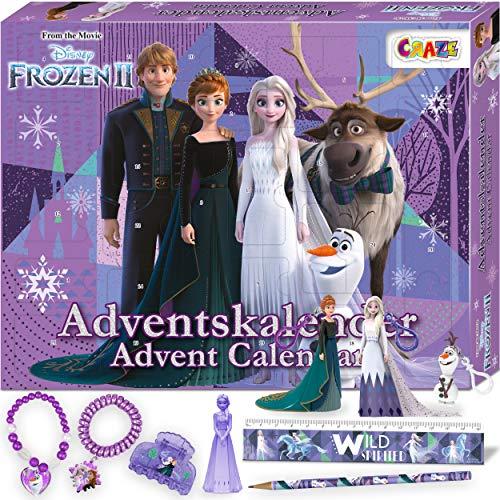 CRAZE Adventskalender FROZEN II Die Eiskönigin Weihnachtskalender Spielfiguren Kinderschmuck Kinder Haarschmuck 24652