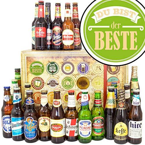 Du bist der Beste + Geschenk für den Freund + Biere der Welt 24x + Bier Geschenk Adventskalender