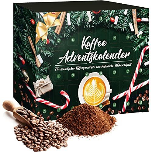 Adventskalender Kaffee 2021 mit 24 Tütchen voller himmlischen Kaffeegenusses für eine besinnliche Weihnachtszeit| Weihnachtskalender Geschenkset zur Weihnacht- und Adventszeit