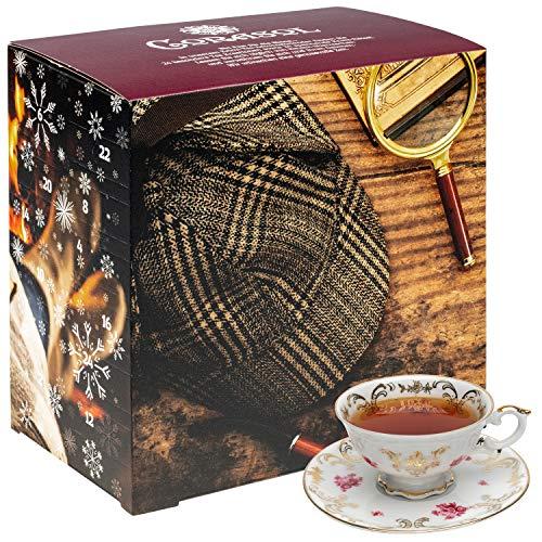 Corasol Premium Rätsel-Krimi & Tee Adventskalender 2020 XL, 24 lose Teesorten & spannendem Krimi-Booklet mit 24 kniffligen Rätseln (220 g)